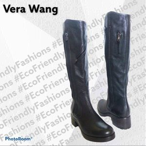 """Vera Wang Lavender """"Evan"""" Leather Boots"""